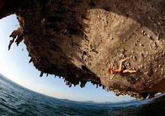 """Falling from rock climbing a giant limestone cliff on Poda Island in Thailand usually results in a """"splash."""" Jessa Younker likes deepwater soloing and describes the experience on National. Gopro, New Flame, Action Photography, Creative Photography, Photography Ideas, Escalade, Big Photo, Photo Pin, Cool Rocks"""