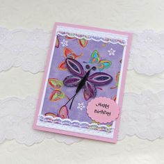 Paper Quilling Greeting Card Paper Quilled by EnchantedQuilling, $6.50