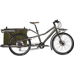 One of the best platforms for an electric bike conversion is a cargo bike, lots of sweet space to store battery, controller and wiring. Electric Cargo Bike, Bike Shelter, Gary Fisher, Velo Cargo, Commuter Bike, Bicycle Accessories, Camping, Sport Bikes, Outdoor Gear
