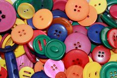 Random mix of colourful craft buttons blue by BeadsButtons4Crafts, €2.99