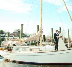 The Marina at American Wharf in Norwich, CT is  surrounded by elegant boats and scenic river views, it makes a great nautical wedding venue.
