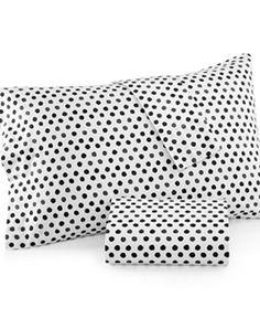 Dormify Polka Dottie Standard Pillow Case (Set of 2) Bedding Black/White