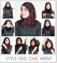 I have collected hijab styles step by step tutorial. It consists of steps required to wear beautiful hijab styles. These steps for hijab styles are easy. Hijab Fashionista, Hijab Niqab, Hijab Outfit, Islamic Fashion, Muslim Fashion, Tutorial Hijab Segitiga, Scarf Tutorial, Beau Hijab, Hijab Simple