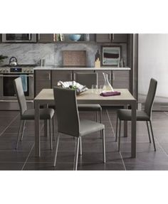 Macchiato Dining Furniture, 7-Pc. Set (Expandable Table with Self Storing Leaf & 6 Chairs)