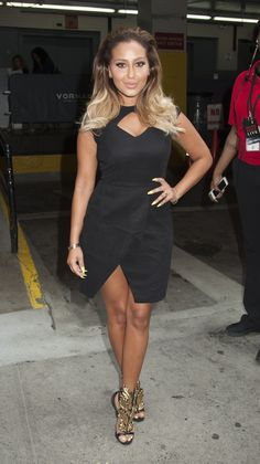 Adrienne Bailon of 'The Real' makes an appearance at HuffPost Live Studios in NYC