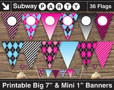INSTANT DOWNLOAD Printable Pink Monsters Party by subwayParty, $5.20