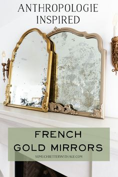 Outstanding diy french country decor are available on our site. Read more and you will not be sorry you did. Diy Hacks, Diy Francais, Anthropologie Mirror, Mirror Video, Diy Love, Spiegel Design, French Mirror, Diy Upcycling, Beautiful Mirrors