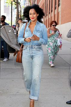 "soph-okonedo: "" Tracee Ellis Ross seen out in New York City """