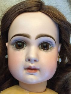 """Stunning Size 11 Closed Mouth 24"""" Tete Jumeau French Bisque Doll 