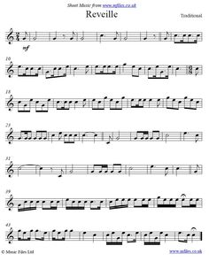 (Long) Reveille - a military bugle call whose purpose is to wake up the troops at the start of the day