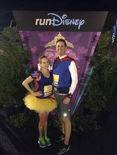 Snow White and Prince Charming Running Costumes for the Princess Half Marathon. Run Disney!