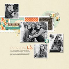 Ingredients include - Scotty Girl's This Year 2014 - Add On Papers, also featured is This Year 2014 Papers, Elements, Flairs and Brushes. Also Scotty Girl's Frame It Up Templates.