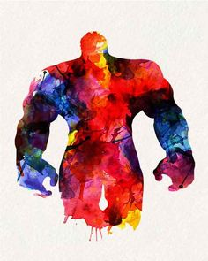 Avengers Hulk _ Watercolor Painting Wall by watercolormagazine