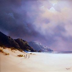 Kai Fine Art is an art website, shows painting and illustration works all over the world. Watercolor Clouds, Watercolor Landscape Paintings, Landscape Art, Watercolor Paintings, Watercolours, Seascape Art, Art Pictures, Photos, Art Original