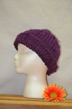 color: medium purple style: fitted [you can have me fold the brim or not] size: adult