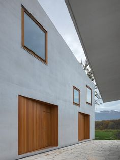 Modern Design: Two in One house by Clavienrossier Architectes