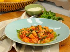 Ricotta Gnocchi recipe from Geoffrey Zakarian via Food Network. Add chopped frozen spinach to gnocchi Best Pasta Recipes, Gnocchi Recipes, Dinner Recipes, Dinner Ideas, Endive Recipes, Radish Recipes, Top Recipes, Potato Recipes, Meal Ideas