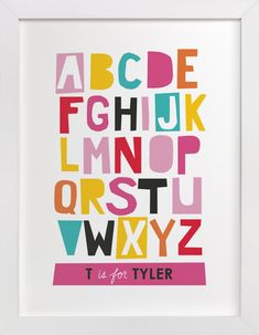 Paper Cut ABCs by Ampersand Design Studio at minted.com