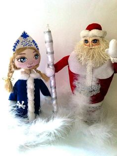Christmas Gift New year Decoration Handmade Santa Claus Ice