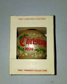 HALLMARK 1979 OUR FIRST CHRISTMAS TOGETHER GLASS BALL ORNAMENT