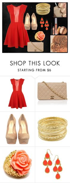 """""""Night Out"""" by mary-5so1ds ❤ liked on Polyvore featuring Alexandre Birman, Miso, Fantasy Jewelry Box, Blu Bijoux, Stila and Zoya"""