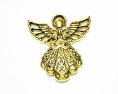 5 Angel Charms antique gold tone, C21 by vickysjewelrysupply. Explore more products on http://vickysjewelrysupply.etsy.com