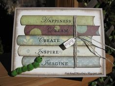 ~Bookworm~you need to be a stampin up demonstrator to view this...but cute idea