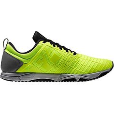 Designed for the sprint trainer, this neon yellow pair of runners will have you gripping and ripping as you kill the track!  http://coolneonshoes.com  #reebok #trainer #yellow #sprint #men