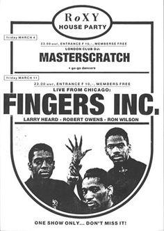 Fingers Inc. Roxy Amsterdam. Friday 11 March 1988.