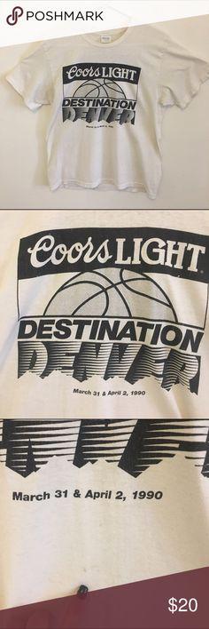 09990b98bd7bc 90's super thin vintage tshirt 90s vintage superthin 50-50 T-shirt. Coors
