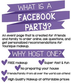 Facebook party. To book a free facebook party for rewards go to my website lashmehappy.com