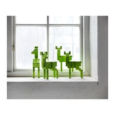 Modern, bright green deer. IKEA SAMSPELT decoration is a colourful and striking eye-catcher that brings character to the room. $19.95
