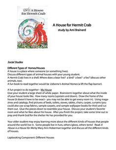 A House for Hermit Crab Free Unit Study and Lapbook