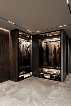 Brit Apartment on Behance Bathroom Interior Design, Interior Decorating, Delta House, Dressing Room Design, Luxury Apartments, Living Room Designs, Armoire, Furniture Design, New Homes