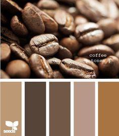 Couleurs plus foncées mais chaleureuses aux essences de café