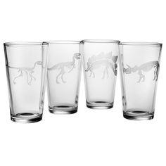 Jurassic Pint Glass (Set of 4), $44.99, Overstock.com