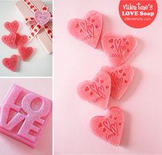 Bird's Party Blog: Handmade With Love: Easy DIY Valentine's Heart Soap #heart #soap #handmadegifts