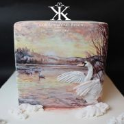 A place for people who love cake decorating. Bird Cakes, Cupcake Cakes, Cupcakes, Pretty Cakes, Beautiful Cakes, Peacock Cake, Hand Painted Cakes, Ice Cake, Cake Images