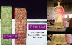 This designer lace on the flair enhances the look of this ghagra .....