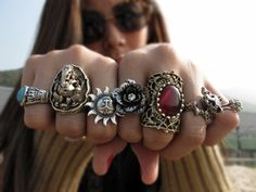 one sure sign you are crazy is that you wear rings on every finger