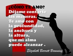 Frase de amor - Elizabeth Barrett Browning