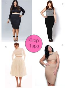 Crop Tops – PlusSize  This week's currently craving item are plus size crop tops! Crop tops are a trend that all plus size women should at ...