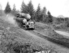 Old time Logging Giant Sequoia Trees, White Tractor, Logging Equipment, Oregon Travel, World Pictures, Old Trucks, Trees To Plant, Old Photos, Images