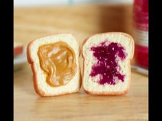 Showing you how to make a pair of peanut butter and jelly earrings using polymer clay, acrylic paint, and glue.