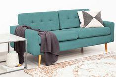 Canapea Fixa 3 locuri Ina Loft Turquoise #homedecor #inspiration #interiordesign #livingroomdecor #decoration #sofa Loft, Love Seat, Couch, Turquoise, Interior, Furniture, Design, Home Decor, Settee