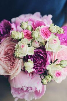 English Rose   - scented Yves Piaget and O'Hara Garden Roses, Sarah Bernhardt peonies, Mimi Eden Spray Roses