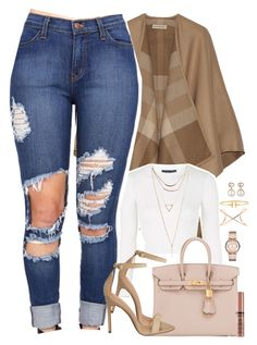 """Arabella "" by daisym0nste ❤ liked on Polyvore featuring Burberry, Topshop, Wet Seal, Hermès, ZIGIgirl, Marc by Marc Jacobs, Roberto Marroni, Samira 13, Wanderlust + Co and Tiffany & Co."