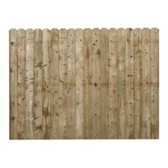 6-ft x 8-ft Spruce Dog-Ear Wood Fence Panel
