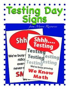 Iowa test of basic skills itbs practice test homeschool ease testing anxiety with these free testing signs fun and engaging test signs you may post outside or on your door during assessments or tests fandeluxe Image collections