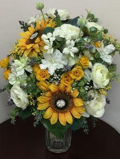 Sunflower bridal bouquet Floral Wreath, Bouquet, Wreaths, Bridal, Flowers, Gifts, Home Decor, Floral Crown, Presents